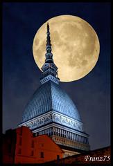 New moon? (franz75) Tags: moon torino nikon luna coolpix 5200 mole turin antonelliana elaborazione d80