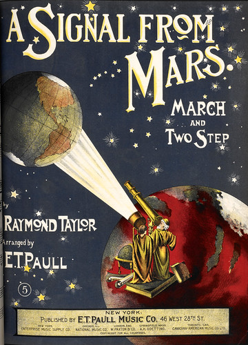 Raymond Taylor's composition, A Signal from Mars, 1901