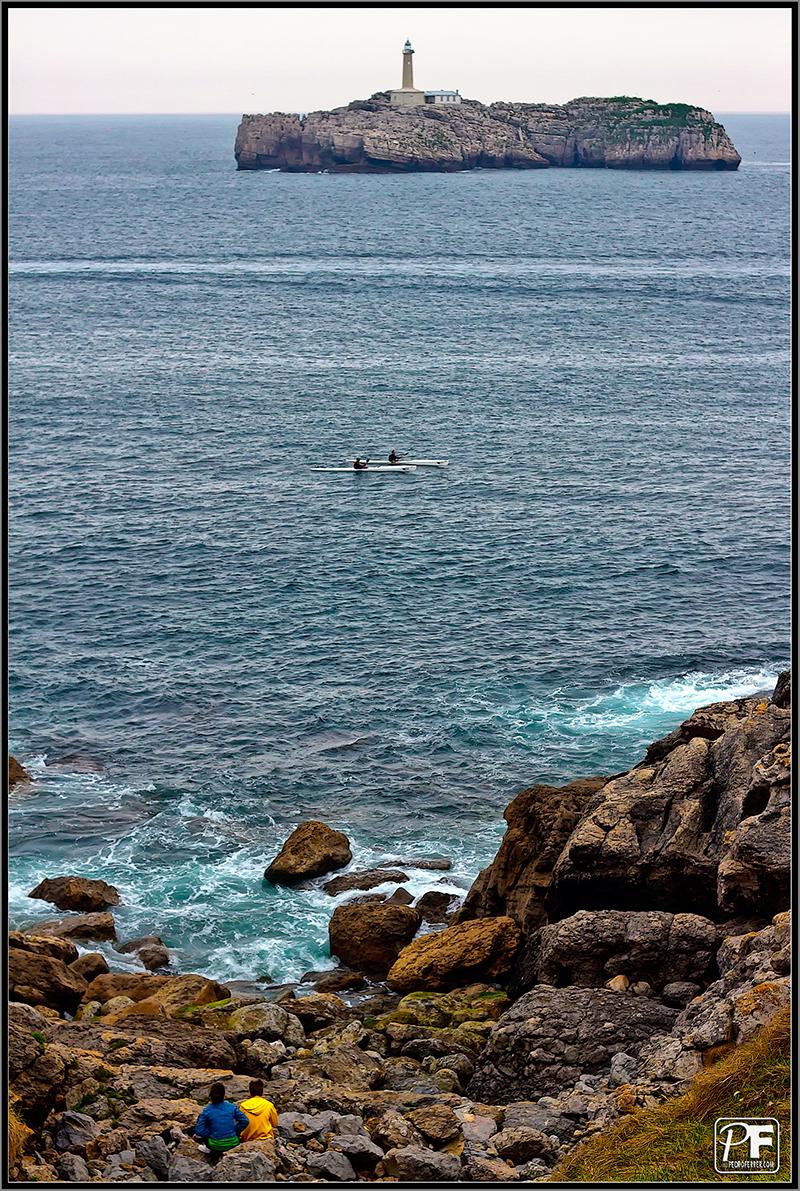 Contemplando la isla de Mouro