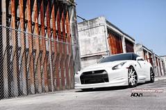 ADV.1 Wheels Boutique Nissan GTR R35 (GREATONE!) Tags: urban white building nikon nissan florida miami wheels sunny tires mia rims fla slammed gtr r35 adv1 d300s
