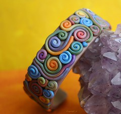 Free form muted rainbow cuff (clayangel_sc) Tags: white flower art nature beauty fashion beads pc beige artist handmade originalart oneofakind ooak tan ivory jewelry polymerclay fimo clay gift bracelet faux sculpey handcrafted wearableart accessories bracelets earrings etsy cuff wearable acessories brooches necklaces kato polymer millefiori premo antiqued artjewelry hypoallergenic adornments artisanjewelry canework handmadebeads artbeads fauxivory handcraftedbeads pcagoe notpainted polymerclayjewelry oneofakindjewelry fauxjewelry southcarolinaartist jewelryartisan boldjewelry clayangel oneofakindpiece clayangelsc nopaintisinvolved