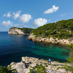 Picturesque Cliff-top walks along the coastline of Cala Galdana (Bn) Tags: park santa wood blue trees sea summer pine marina walking geotagged island islands bay spain topf50 rocks walks paradise mediterranean kayak natural crystal hiking cove seagull paradiselost diving lagoon cliffs semi resort clear oxygen biospherereserve kayaking limestone backdrop coastline gorge hillside nudity idyllic shady surroundings circular menorca cala nesting secluded minorca clifftop balearic macarella galdana macarelleta balear 50faves holidaysvacanzeurlaub rurallocation naturistbeaches geomenorca geo:lon=3957685 geo:lat=39937641