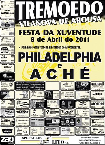 Vilanova de Arousa 2011 - Festa da Xuventude de Tremoedo - cartel