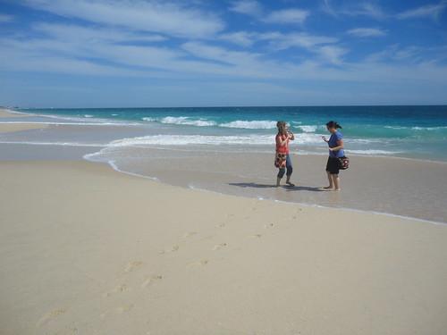 Niki & Heather at Perth City Beach, Western Australia