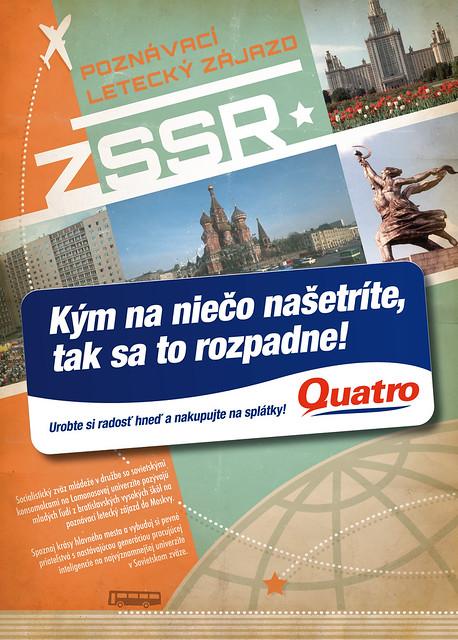 Quatro - Retro poster - ZSSR