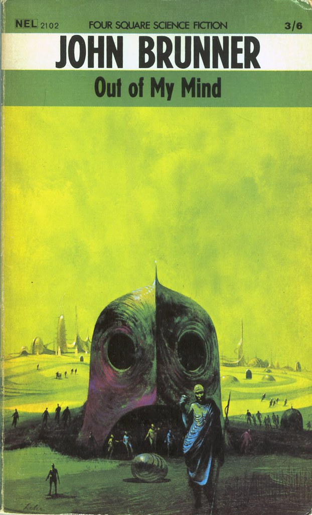 Paul Lehr - Cover Illustration For John Brunner's Out Of My Mind