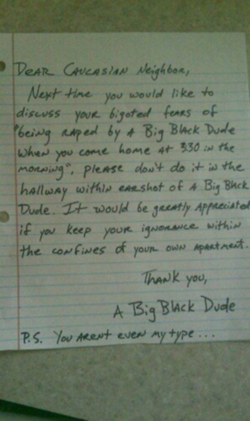 Funny letter from a black dude
