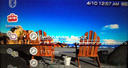 Switch Video Output PSP