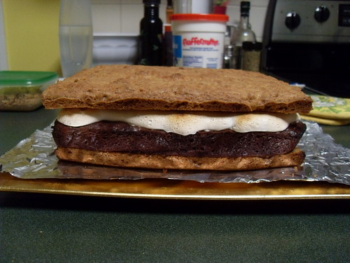 Giant S'Mores Cake