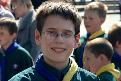 Chris in his Scout uniform