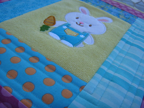 Close Up of Easter Mug Rug
