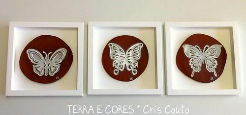 Trio Borboletas Brancas by cris couto 73