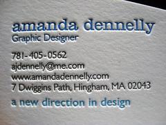 Amanda Dennelly Letterpress Cards