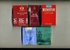 Cigarette packets - John Player King Size, Pet...