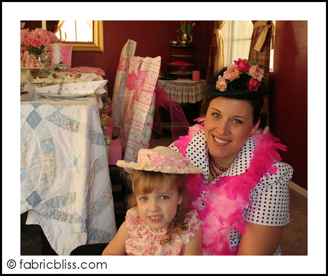 tea party - kennedy and mom