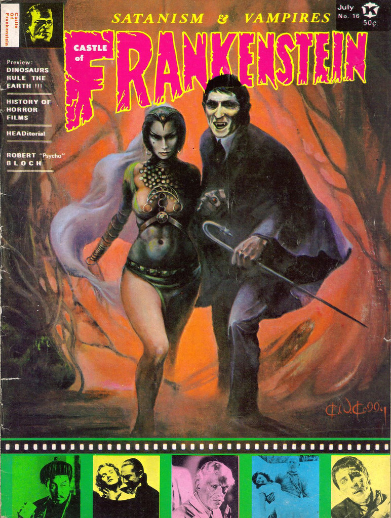 Castle Of Frankenstein, Issue 16 (1971) Cover Art by Ken Kelly