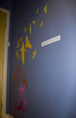 birds decoration decal blik