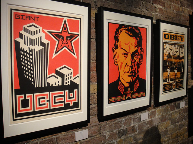 Obey exhibited at the Black Rat Press