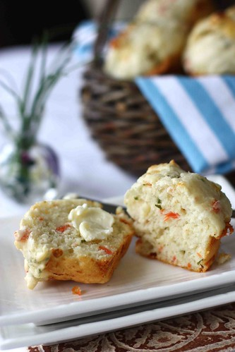 Smoked Salmon & Gorgonzola Cheese Savory Muffin Recipe