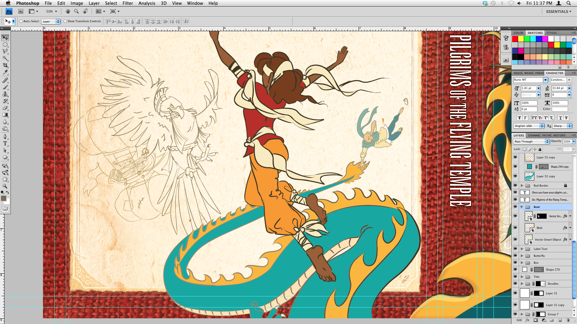 Work in Progress - Back cover of Do: Pilgrims of the Flying Temple