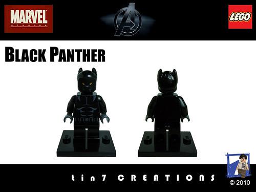 Custom minifig 100 - Black Panther custom minifig