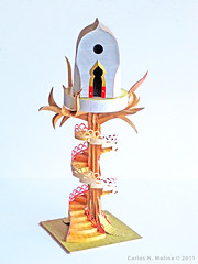 Tree House - Paper Art (Carlos N. Molina - Paper Art) Tags: paperart origami birdhouse treehouse kirigami spiralstaircase papercraft papermodel papertree papersculpture paperhouse paperartist puertoricanartist carlosnmolina papergenius artedepapel paperstairs papersrchitecture