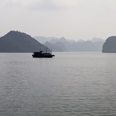 [ha long bay] (.cascata.) Tags: mountains beautiful misty islands unesco worldheritagesite vietnam mysterious limestone halong halongbay scattered inthesea millionsof descendingdragon