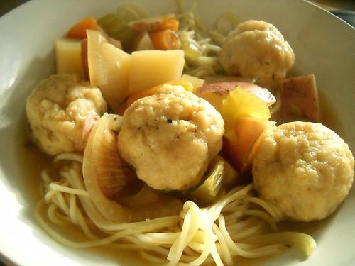 Vegetarian Matzo Ball Soup