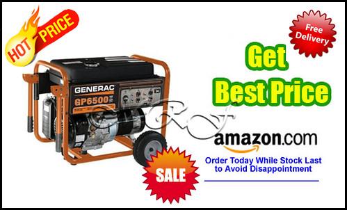 Generac 5623 GP6500 8,000 Watt 389cc OHV Portable Gas Powered Generator