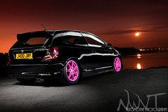Slammed Honda Civic Type R Light Painted As The Moon Rises (NWVT.co.uk) Tags: pink light moon 3 honda photography nikon flickr painted wheels award automotive hampshire professional r type civic ep rises freelance slammed ep3 ctr the d300 as strobist strobism nikonflickraward nwvt