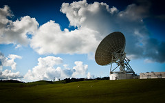 blue white green clouds radio landscape tv dish 2010 telecommunications