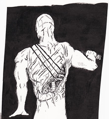 The Flagellant's Last Reply (Jim_V) Tags: ink sketch horror flagellation