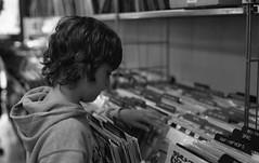 Record Store Day 4/16/2011 (Fogel's Focus) Tags: records film analog minolta vinyl lp evanston neopan400 rodinal 20c 125 x700 f17 2011 4001600 10min minoltamd50mm recordstoreday secondhandtunes themiddlekid dirtyfixer filmdev:recipe=6564