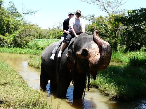 Pablo y yo en elefante