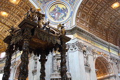 Epic, Vatican, Rome, Italy (mattwareherts) Tags: italy vatican rome scale church st bronze gold basilica grand ceiling altar holy peter april bernini gilt 2011 peacepromotion peacesecondchance photoadditionscomplete