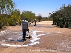 Paver Clean & Seal Project in Scottsdale, AZ by ACME POWERWASH