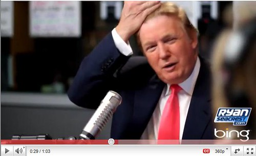 Trump proves hair is real