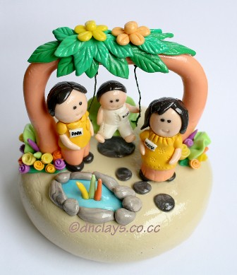 clay souvenir family
