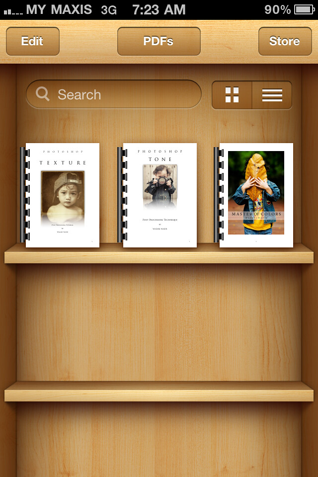 My Photoshop eBook on Apple iBooks Shelf :-)