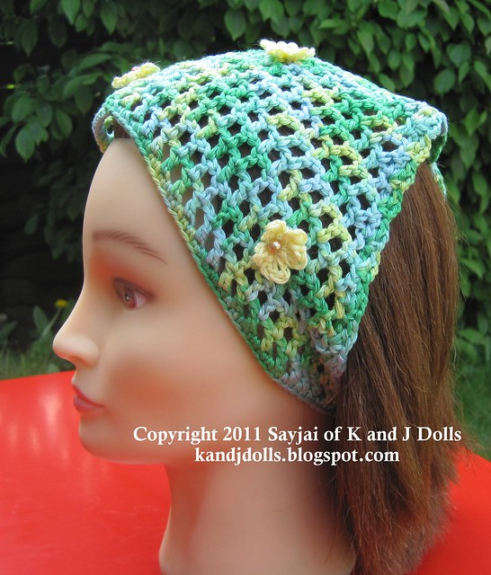 Head Scarf Free Crochet Pattern in Knot Stitch - KarensVariety.com