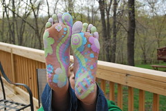 Painted Feet (TwoFunkyFeet) Tags: city feet silver fun foot gold toe painted funky jewelry christen rings missouri boutique kansas accessories unusual custom bryant fit twofunkyfeet