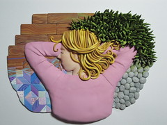 The Narcoleptic in Its Habitat (Clayver) Tags: sculpture art polymerclay narcolepsy narcoleptic