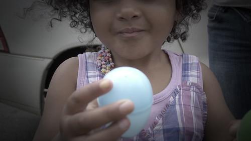 Mya's blue egg