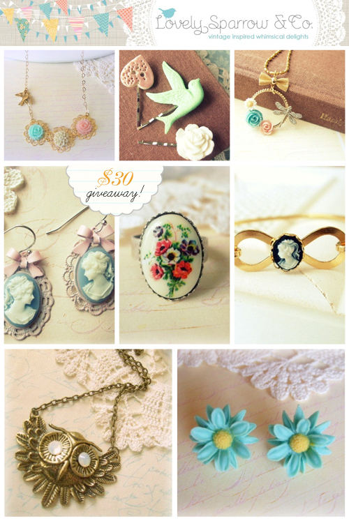 lovely sparrow and co Giveaway
