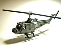 UH-1B 'Huey' ([DustyBricks]) Tags: lego vietnam huey helicopter marines smaller uh1b