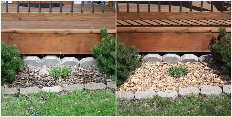 Woodchips Front Before & After
