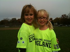Lucy and Maggie (Area Bridges) Tags: lucy team october connecticut soccer maggie magnolia stratford 3gs 2010 iphone hammel teamengland sterlinghouse october2010 october302010
