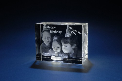3D Laser Gifts - Birthday Train Photo Crystal