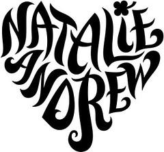 """Natalie"" & ""Andrew"" Ambigram"