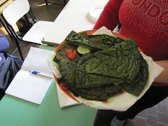 Raccolta degli spinaci